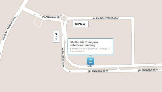 Lokasi shelter bis Primajasa Jababeka 2