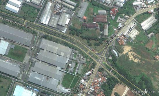 Lokasi Kemacetan di perempatan EJIP/Lippo Cikarang