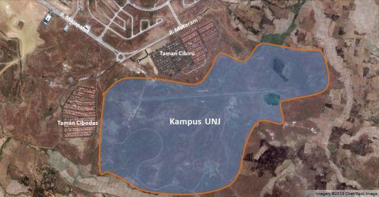 Peta kampus UNJ di Lippo Cikarang