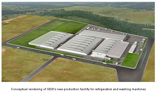 Pabrik baru PT Sharp Electronics Indonesia (SEID) di Karawang International Industrial City (KIIC)