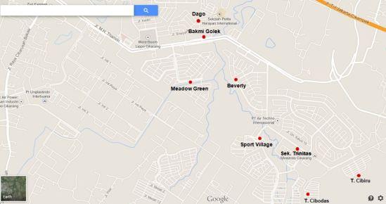 Peta lokasi TPS di Lippo Cikarang